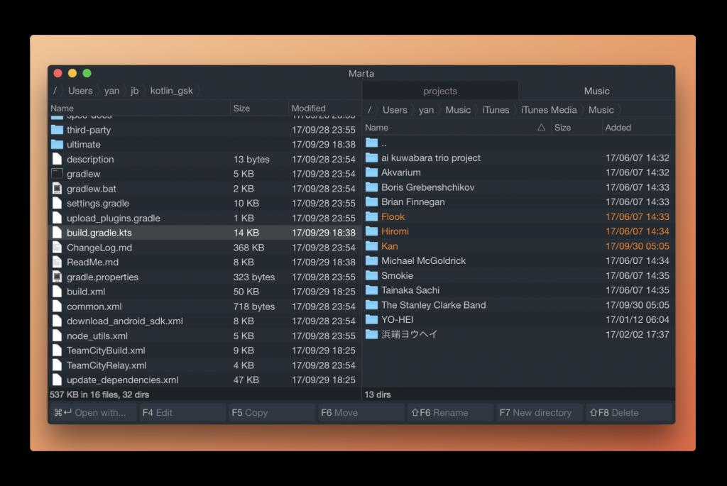 【Mac】デュアルペインのファイルマネージャ「Marta」のベータ版を公開