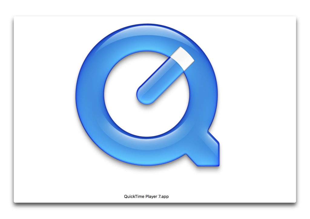 【Mac】QuickTime Player 7は64bitにはならない