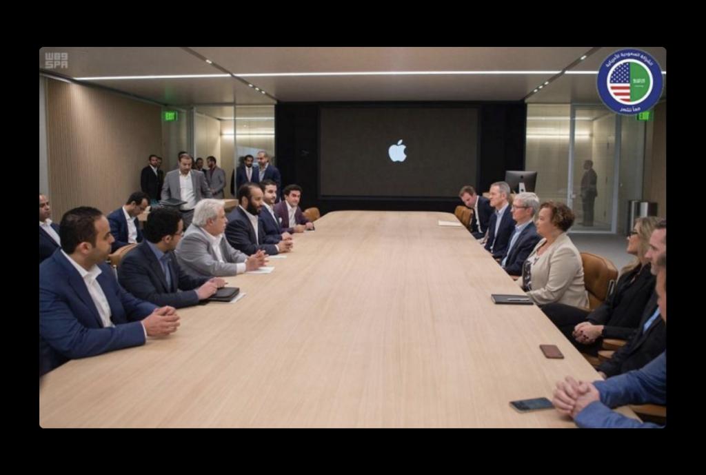 サウジアラビア皇太子、教育とアプリケーション開発ついて議論するために、Apple ParkでTim Cookと会談