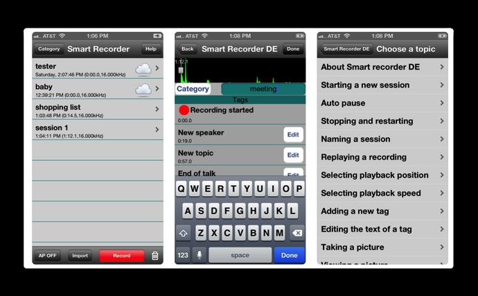 Smart Recorder DE 001