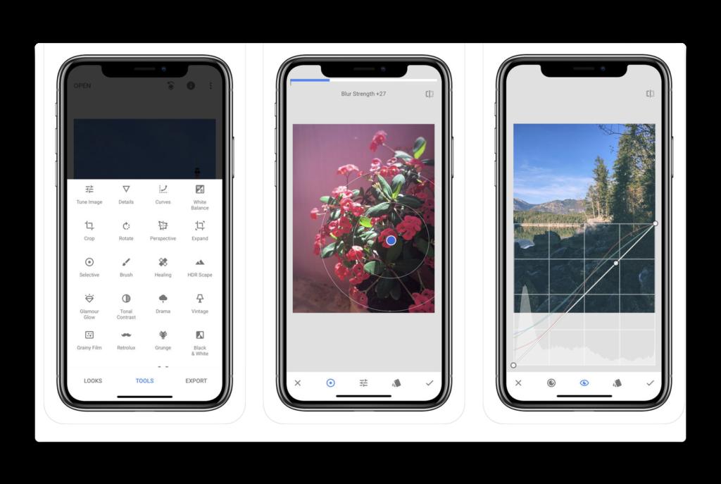 【iOS】フォトエディタ「Snapseed」がバージョンアップでiPhone X をサポート