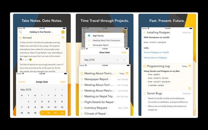 米国のApp Storeではメモをタイムラインで整理するiOS版「Agenda」の予約注文を開始