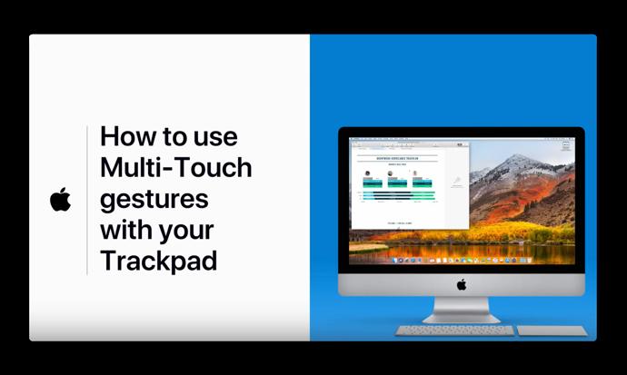 Apple Support、「Macのトラックパッドでジェスチャーを使用する方法」のハウツービデオを公開