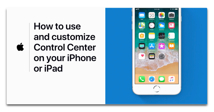 Apple Support、コントロールセンターを使用およびカスタマイズするハウツービデオを公開