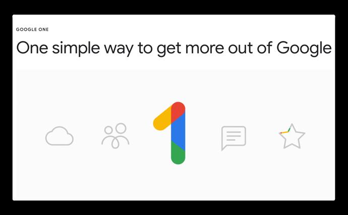 Google、Googleドライブを「Google One」に名称変更しプライスダウン