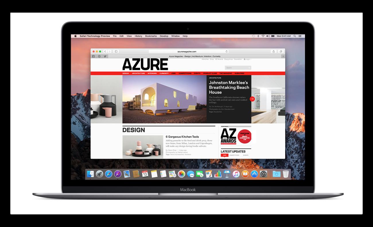【Mac】Apple,「Safari Technology Preview Release 56」を開発者にリリース
