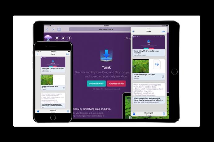 iPadには必携のドラッグ&ドロップコンパニオンアプリ「Yoink」の使い方がよく解るビデオ