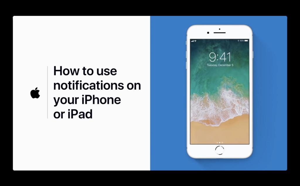 Apple Support、iPhoneまたはiPadで通知を使用するハウツービデオを公開