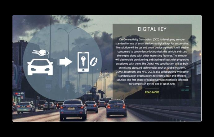 Appleも参加するカーコンソーシアム、スマートフォン用のカー・デジタルキー仕様を発表