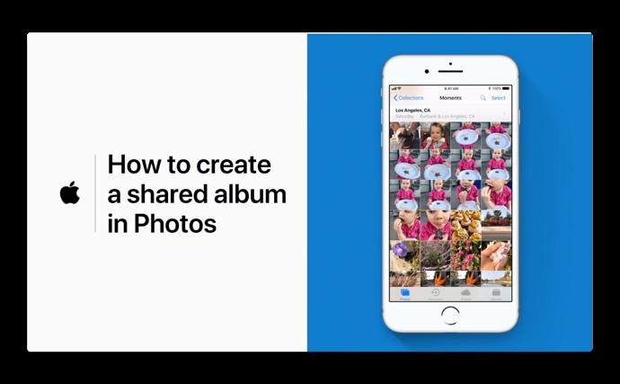 Apple Support、「写真に共有アルバムを作成する方法」のハウツービデオを公開