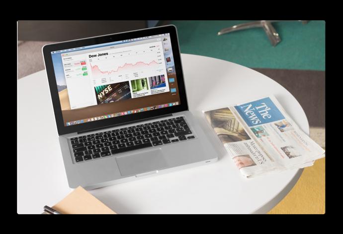【macOS Mojave】新しい「Stocks(株価).app」を使う方法