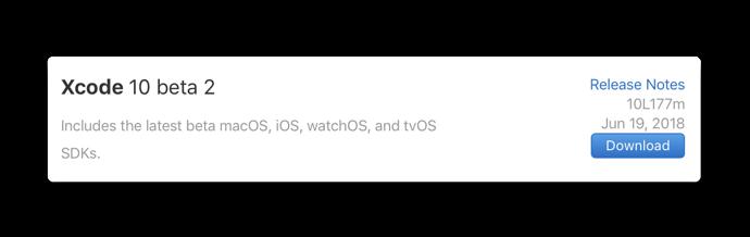 Xcode 10 beta 2 001