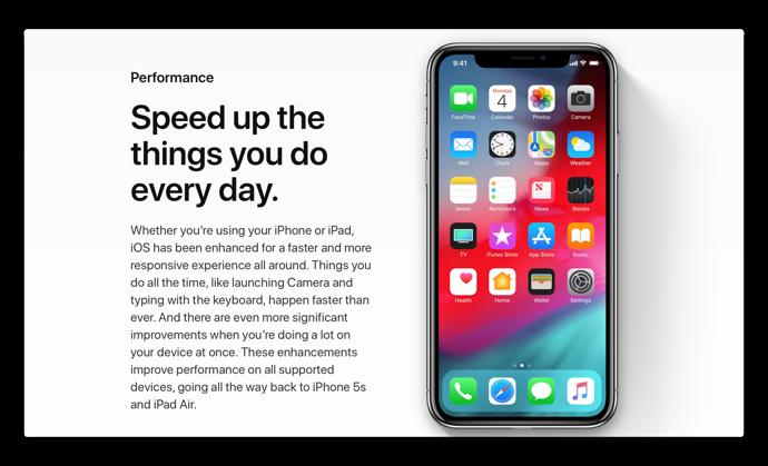 iOS 12の主な機能の1つがパフォーマンス、古いデバイスでiOS 12が動作する速度は?ビデオで確認!