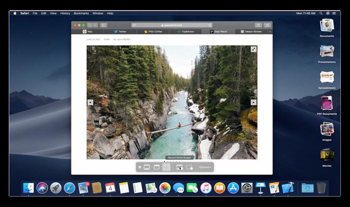 【macOS Mojave:新機能】スクリーンショットを撮って画面を記録する方法