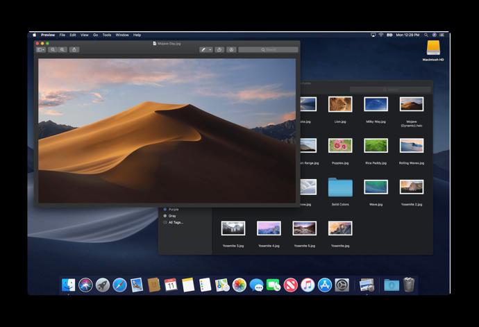 MacOS Mojave of Dark Mode 004 z