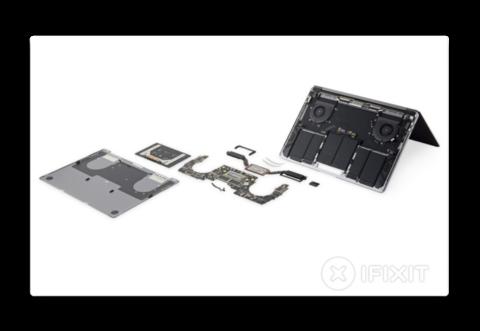 iFixit、13インチMacBook Pro 2018 の分解レポートで、大型バッテリーや再設計された電源アダプタを公開