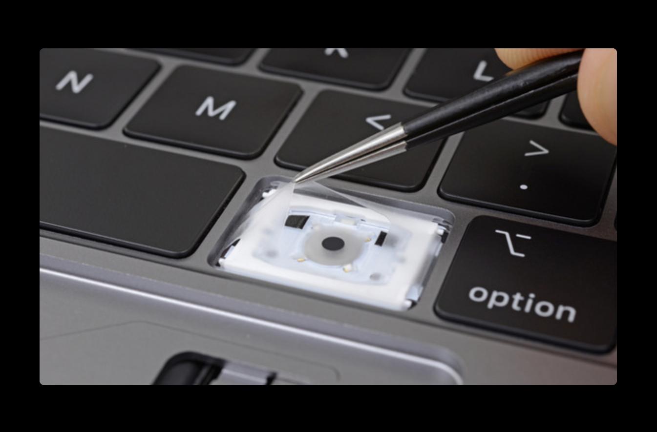 iFixit、新しい2018 MacBook Proキーボードには各キーの下に「薄いシリコン膜」がある