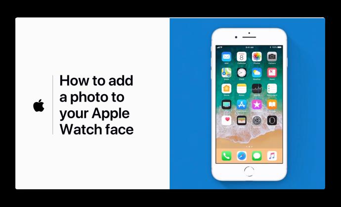 Apple Support、Appleウォッチフェイスに写真を追加する方法のハウツービデオを公開