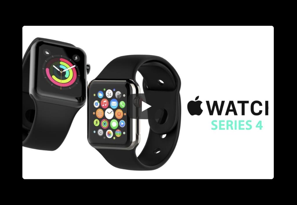 リークに基づいて作成されたApple Watch Series 4のビデオ