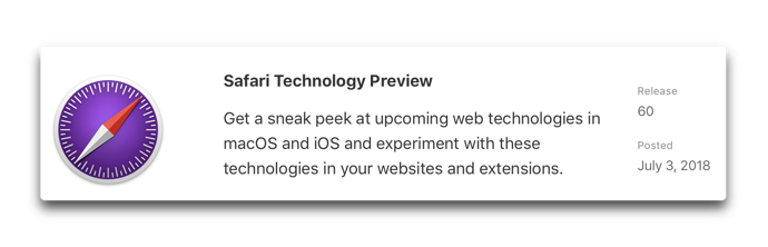 Safari Technology Preview 60