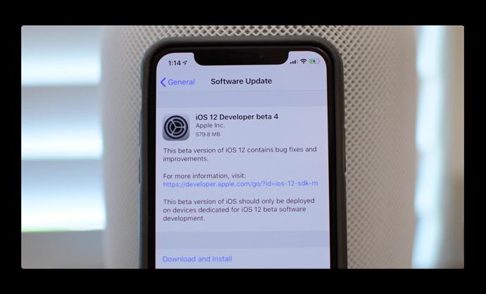 iOS 12 beta 4 の新機能と変更点のビデオが公開