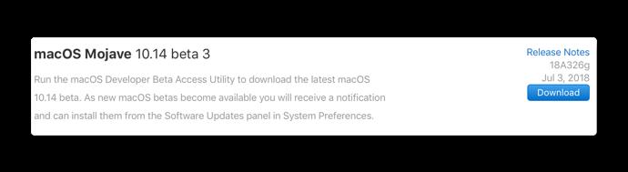 MacOS Mojave 10 14 beta 3 001 z