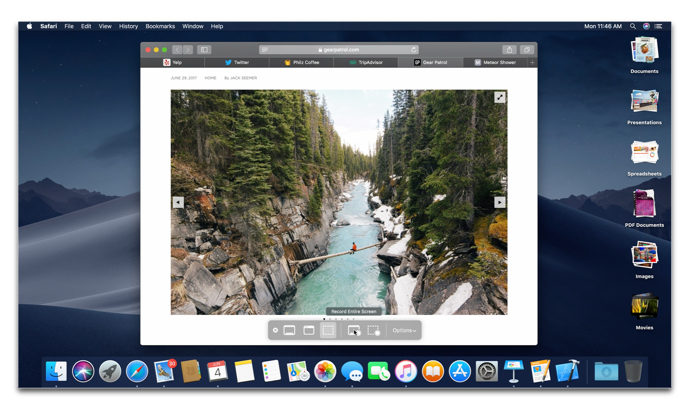 macOS Mojave 10.14 beta 4には新しいユーティリティ「スクリーンショット.app」が