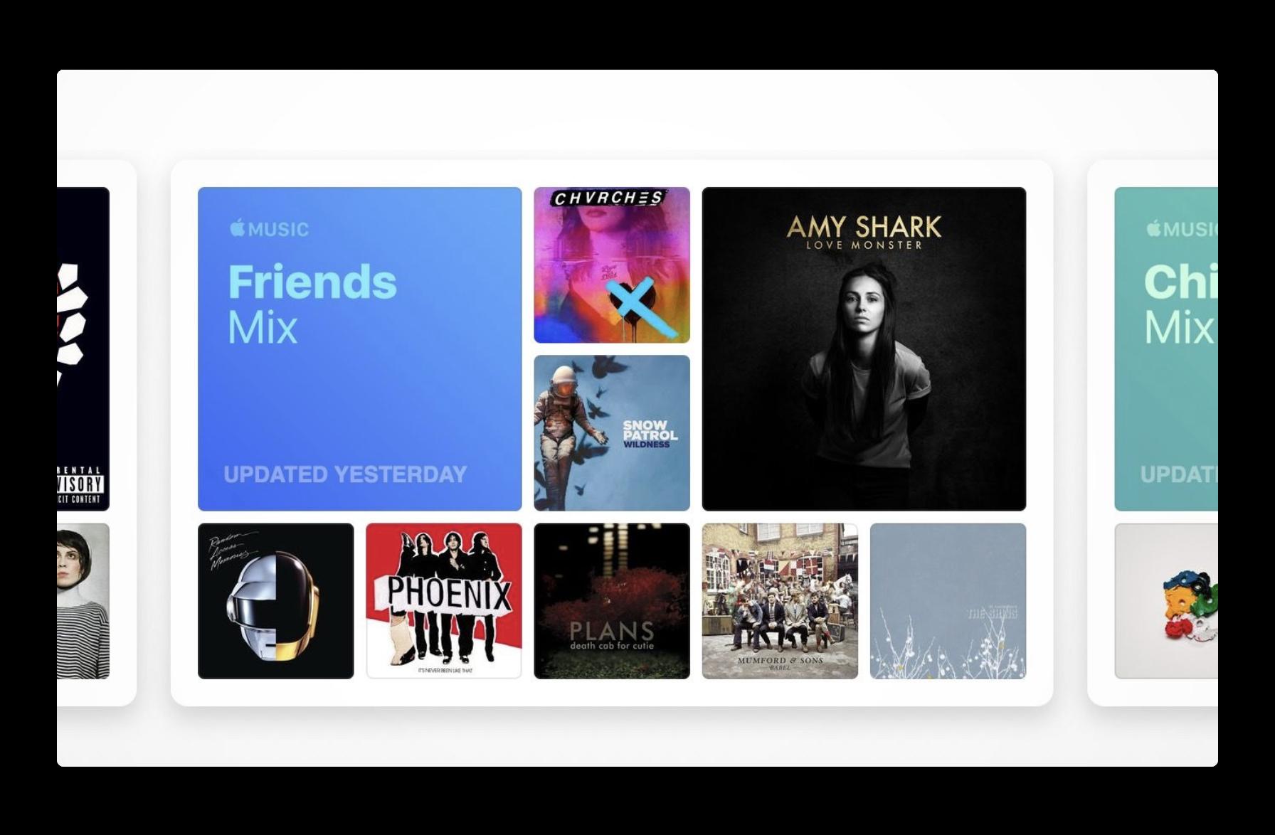 Apple Music、For Youの「あなたへのおすすめ」に「Friends Mix」を公開