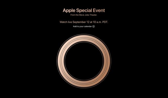 Apple、9月12日の「スペシャルイベント」の公式のライブ中継と視聴条件をWebサイトで案内
