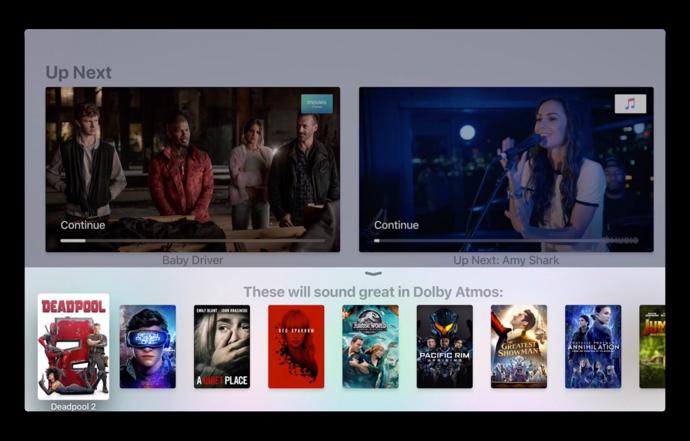 tvOS 12 betaでは、Apple TVのiTunesムービーでDolby Atmosをサポート