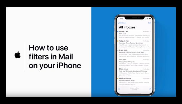 Apple Support、「iPhoneのメールでフィルターを使う方法」のハウツービデオを公開
