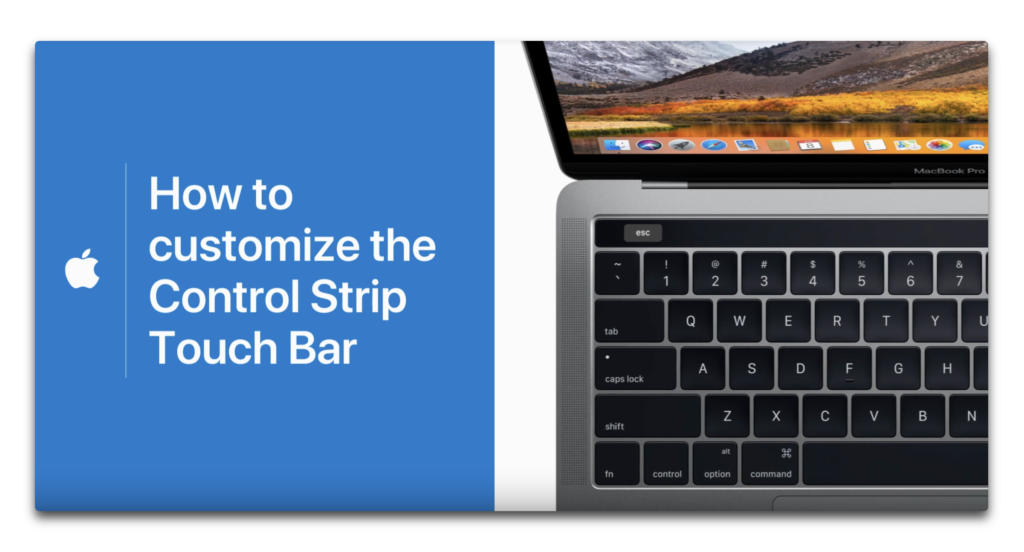 Apple Support、MacBook ProのTouch Barの使用方法やカスタマイズ方法のハウツービデオ4本を公開