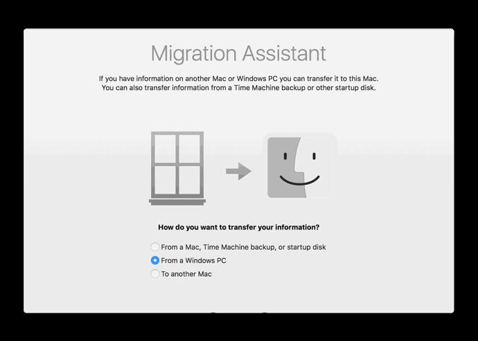 Apple、macOS Mojaveのスイッチャー用に改良されたWindows移行ユーティリティを提供