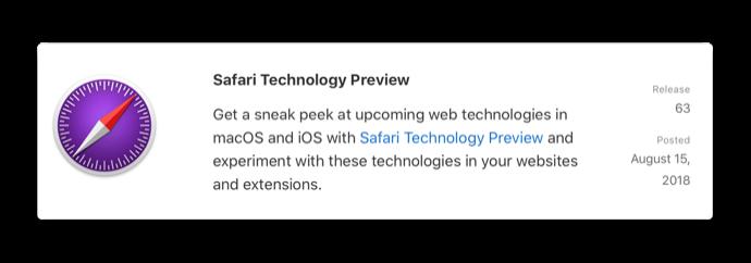 Safari Technology Preview 63 001 z