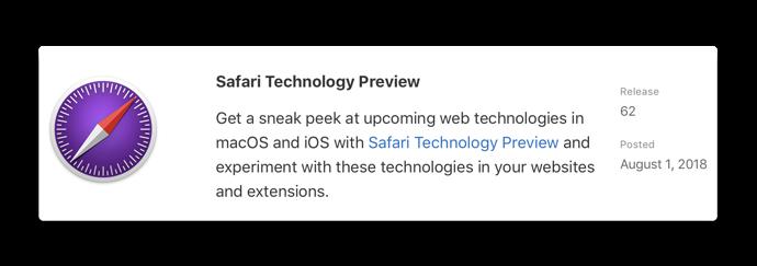 Safari Technology Preview62 001