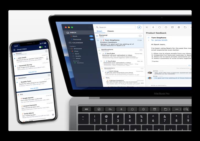 【Mac / iOS】メールクライアント「Spark」、個人またはチームで使いやすくなるための改善と新機能が含まれるアップデート