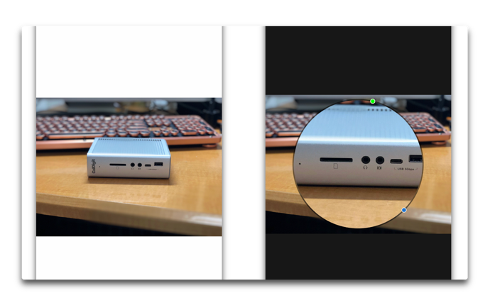 【Mac / iOS】「写真.app」で写真の一部の画像を拡大表示する方法