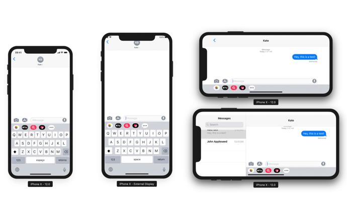 iOS 12、6.5インチiPhoneはiPadのようなランドスケープモードをサポート