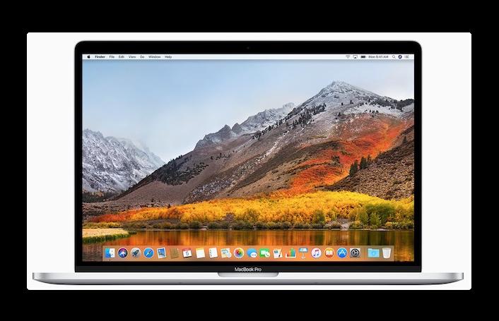 Apple、MacBook Pro 2018向けにmacOSHighSierra 10.13.6 2番目の補足アップデートをリリース
