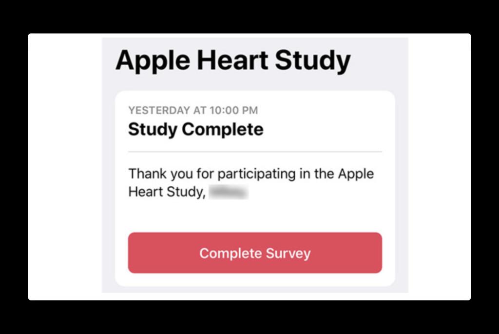 Apple Heart Studyは、来年1月の完了予定より前に終了しています