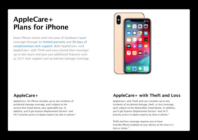 米Apple、iPhoneのAppleCare+に新たに紛失と盗難のオプションを提供