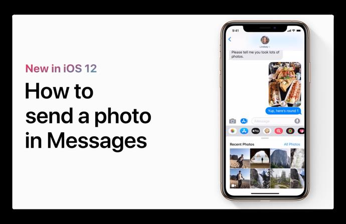 Apple Support、「iOS 12のメッセージで写真を送信する方法」に関するハウツービデオを公開