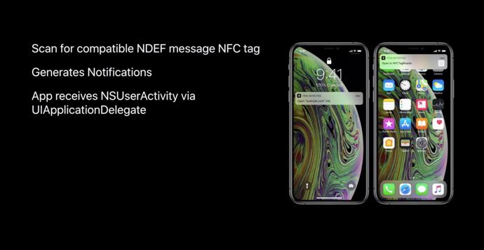新しいiPhoneはバックグラウンドでNFCタグを読むことができ、アプリは必要なし