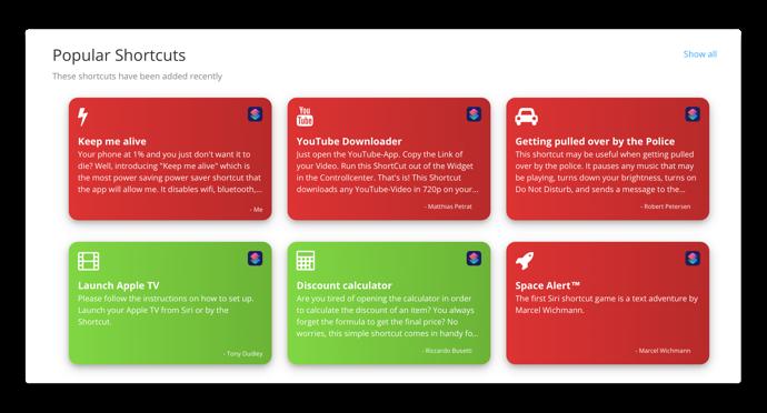 iOS 12対応のショートカットアプリのギャラリー「ShortcutsGallery.com」が公開