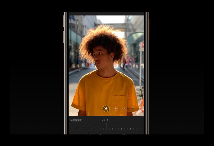 iPhine XS/XS Max、iOS 12.1では写真を撮影する際に被写界深度を調整できる