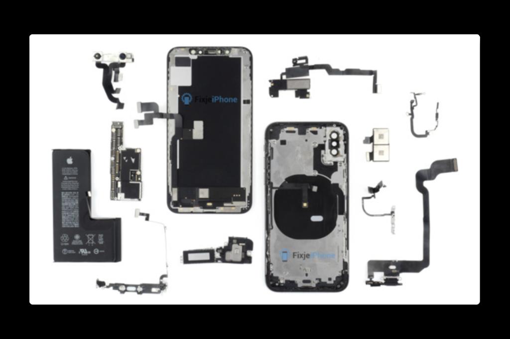 iPhone XSを分解、シングルセルバッテリーでiPhone Xからほとんど変更なし
