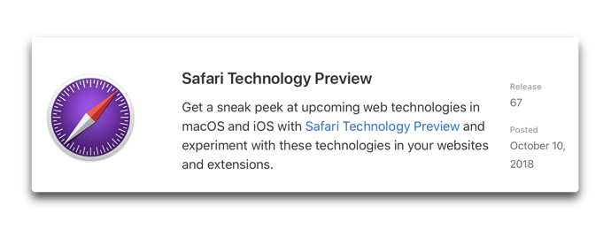 Safari Technology Preview 67 001