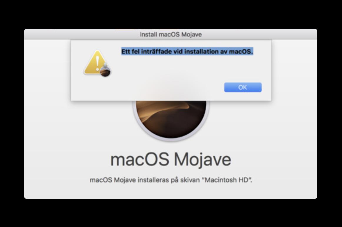 一部のMacBook Pro 2018オーナーは、macOS Mojaveのインストールエラーに遭遇しています