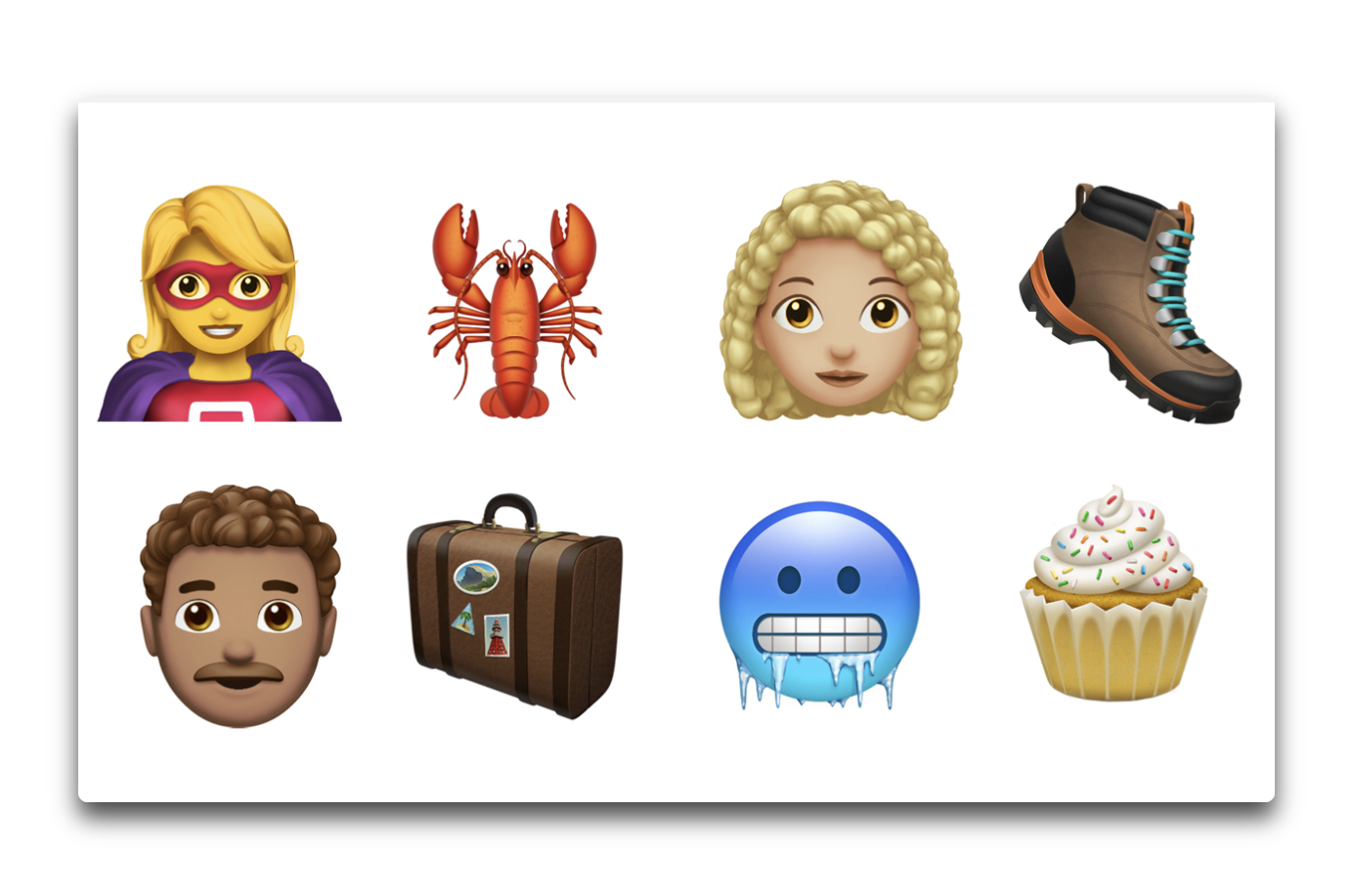 Apple、iOS 12.1で70種類以上の新しい絵文字を追加