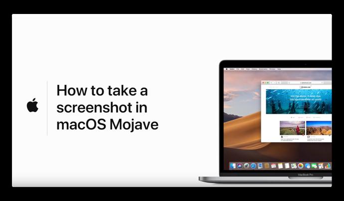 Apple Support、macOS Mojaveでスクリーンショット&レコーディングのハウツービデオ2本を公開